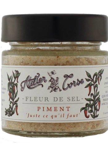 Fleur de sel Atelier Corse 90 gr Piment