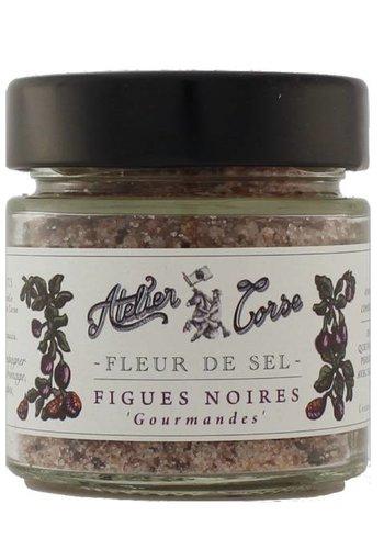 Fleur de sel Atelier Corse 90 gr Figues noires