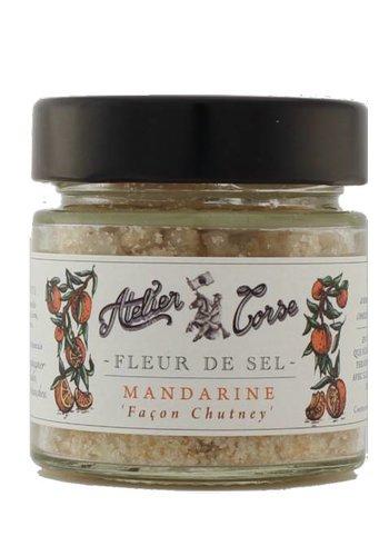 Fleur de sel Atelier Corse 90 gr Mandarine