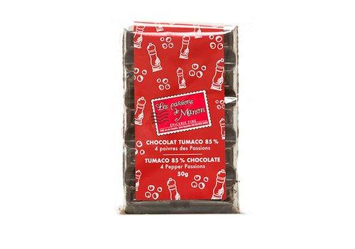 Chocolat Huila Tumaco 85% et 4 poivres 50g