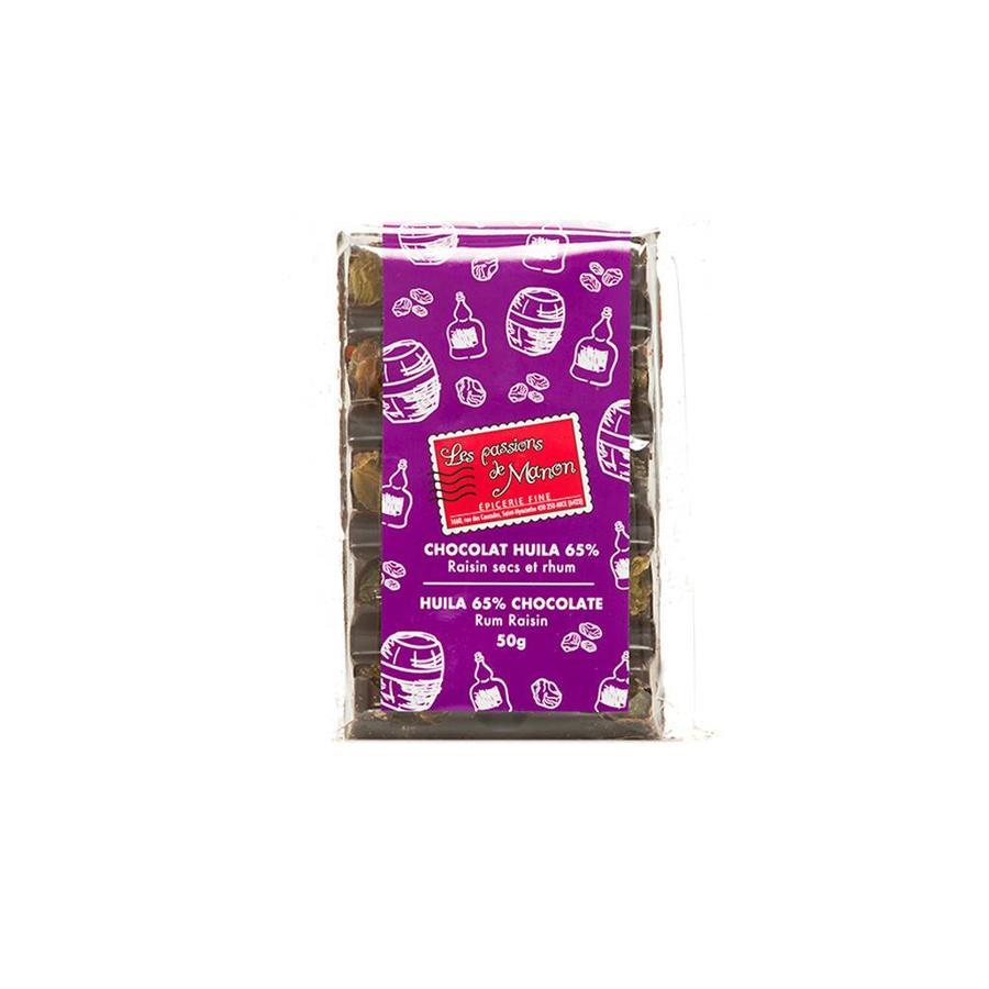 Huila dried raisins & rum chocolate 50g
