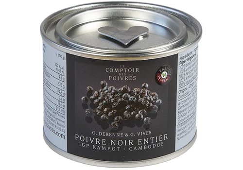 Black Kampot PGI peppercorns - Cambodia 80g