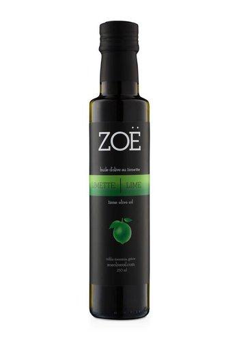 Huile d'olive extra-vierge ZOË infusée à la lime 250 ml