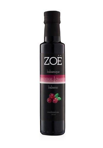 Vinaigre balsamique ZOË  infusé  à la canneberge 250 ml