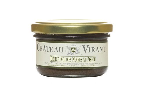 Delice d'olives Noires au Pistou 90 g
