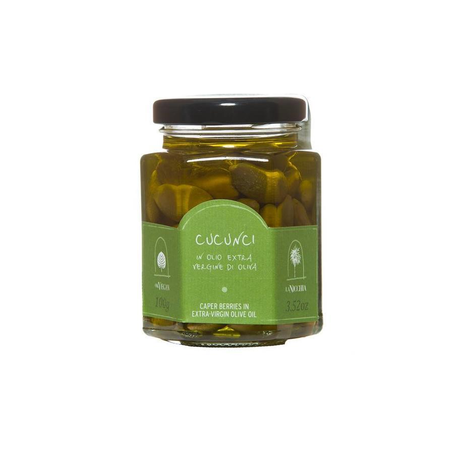 La Nicchia Caper Berries in Extra-Virgin Olive Oil - 100g