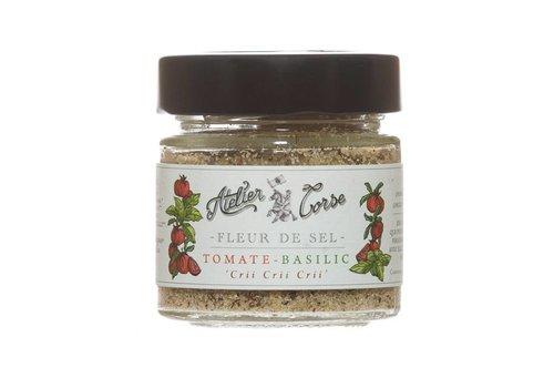 Fleur de sel Atelier Corse 90 gr tomate et basilic