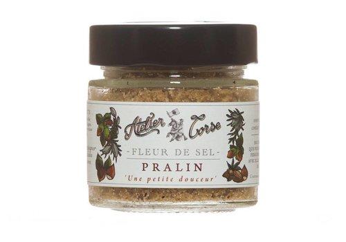 Praline Salt flower Atelier Corse 90 gr (Balagne Almond, Cervione Hazelnut)