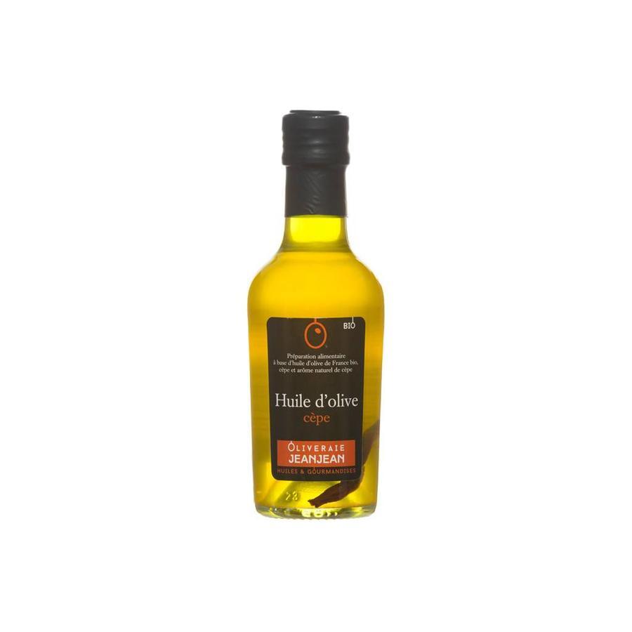 Huile d'olive aromatisée au cèpe  et basilic 250 ml
