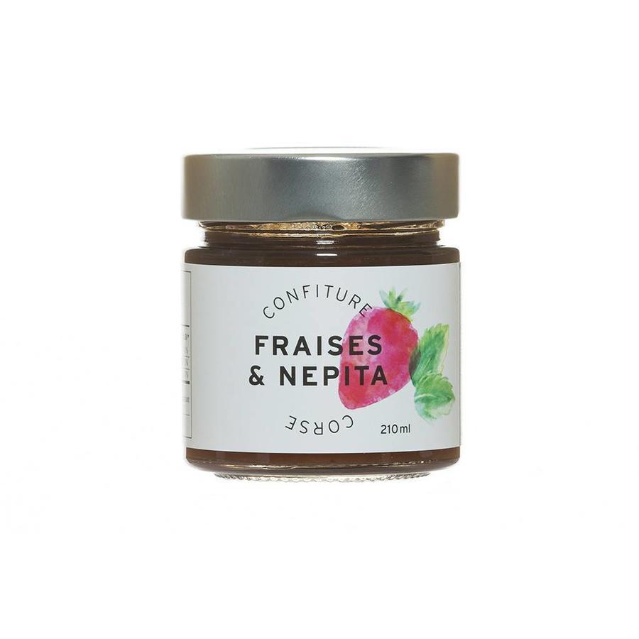 Confiture Fraises & Nepita Corse 210ml