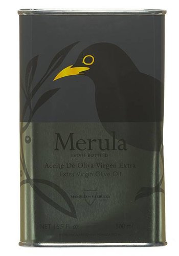 Merula Extra-Virgin Olive Oil Large Metal Can - 500 ml