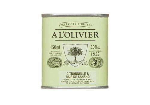 Huile d'olive Citronnelle et baie de Sansho 150ml