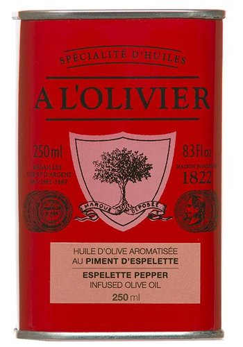 A l'Olivier Espelette Pepper Extra-Virgin Olive Oil - 250ml