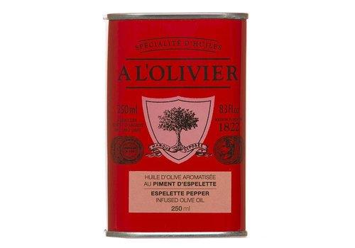 Huile  de piment d'espelette 250ml à l'olivier