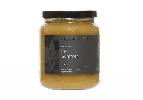 Miel brut d'été bio 500 g