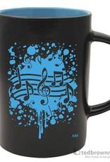 Coffee Mug - Note Burst (Blue)