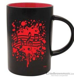 Coffee Mug - Note Burst (Red)