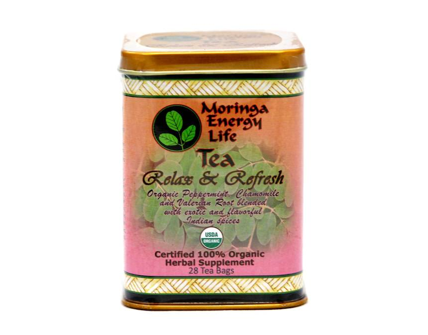 Moringa Energy Tea,  Relax & Refresh