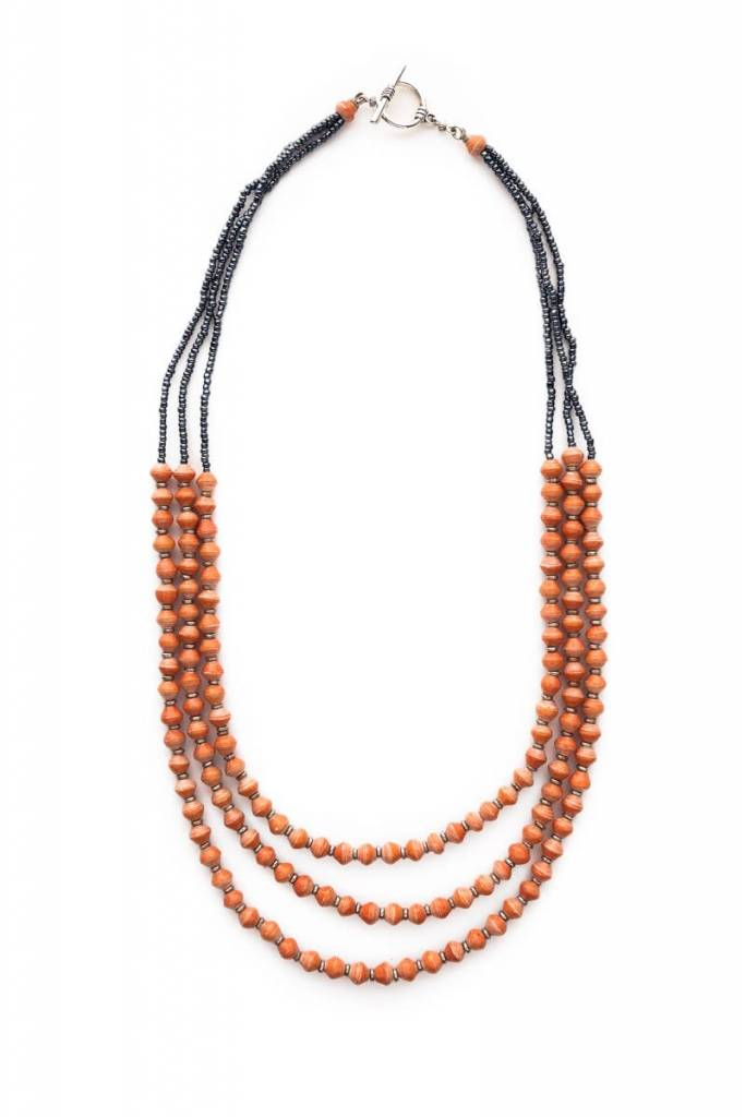 Necklace - Desert Red Paper