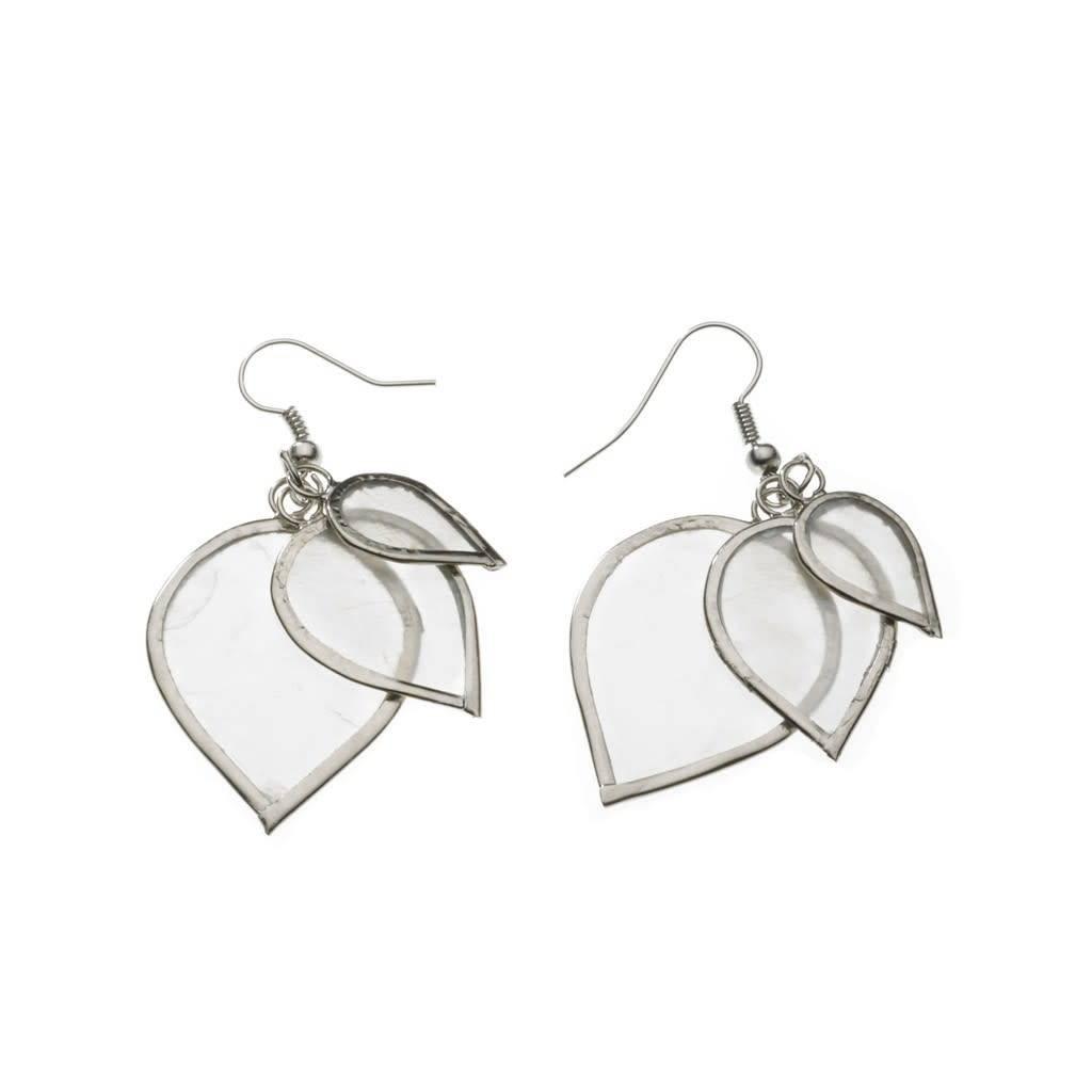 Earrings - Capiz Leaf