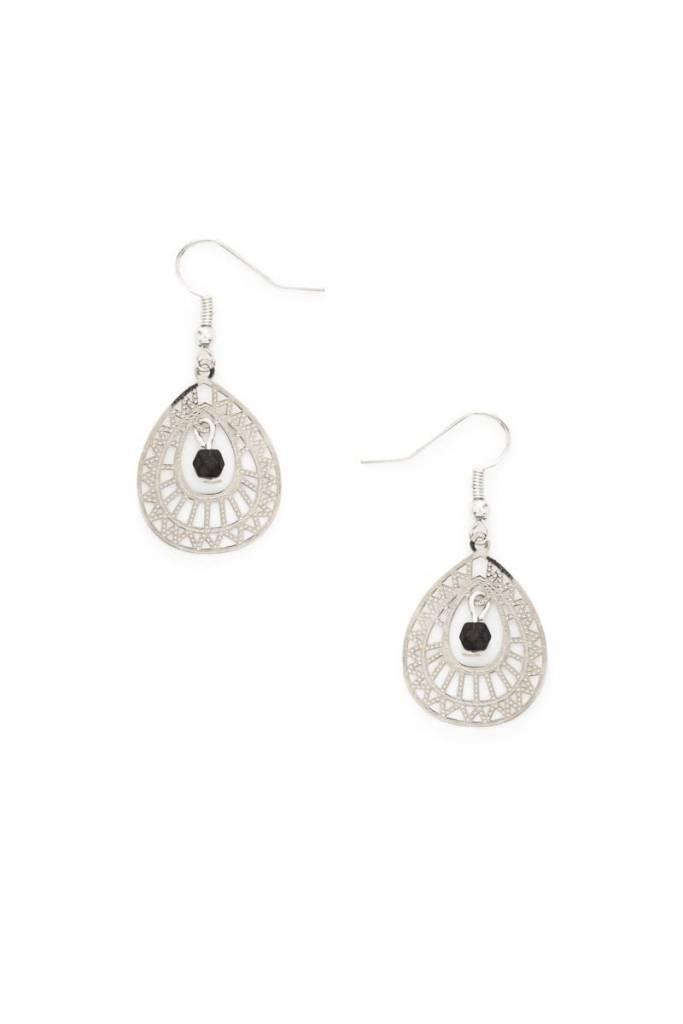 Earrings - Silver Lace