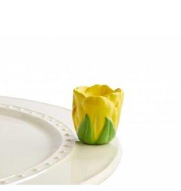 Nora Fleming NF tiptoe thru 'em (yellow tulip)