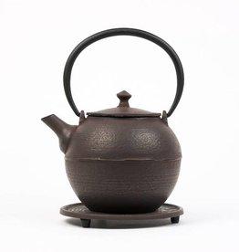 Théière en fonte brune Kyoto