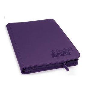 Ultimate Guard Ultimate Guard: 8-Pocket Quadrow Card Binder Zipfolio - Xenoskin Purple