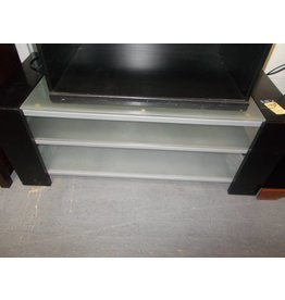 3 tier T.V. Stand glass and metal