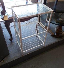 Shelf Rack White/Glass