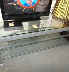 T.V. Stand 3 Tier Silver/Glass