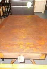 End Table Antique 1 dr Carved Wood