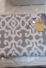 New bath mat white/gray