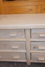 6 dr dresser w/mirror lodge pole blonde
