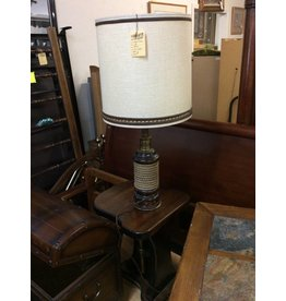 Table lamp pine and rope