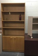 Bookcase with Cabinet - Oak Wrap