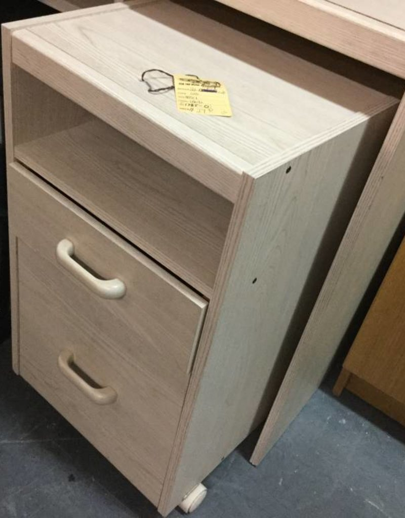 2 Drawer File Cabinet - Natural