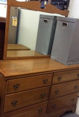 6dr dresser with mirror maple