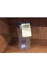 Glass jar silver lid