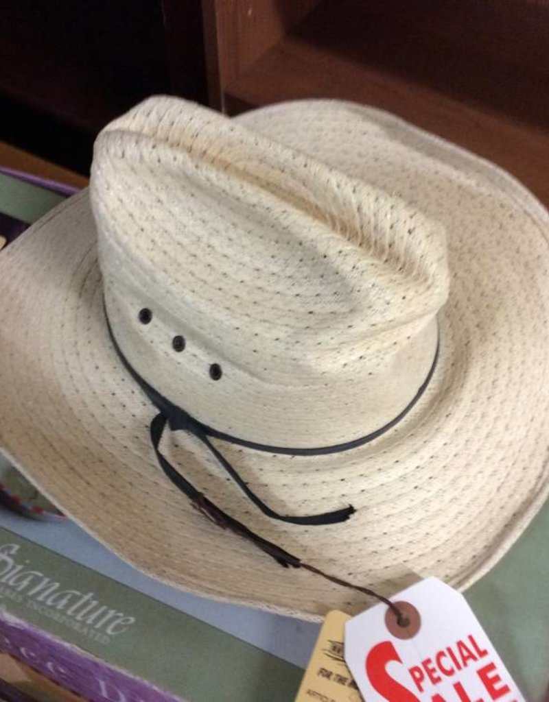 Cowboy hat cream with black band