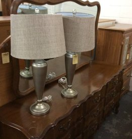 Pair of lamps silver