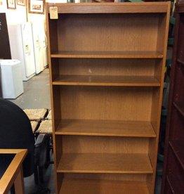 6' bookcase oakwrap