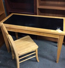 Desk with chair blonde and black