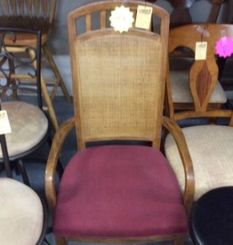 Pair chairs maple red