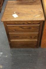 3 drawer night stand oak