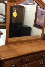 8 drawer dresser oak with mirror