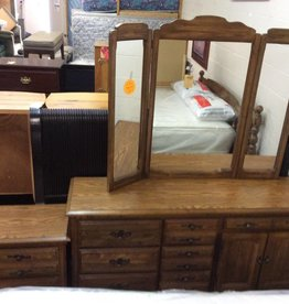 6 piece bedroom set walnut