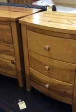 Pair of night stands 3drawer pine