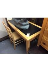 Desk / blonde/black