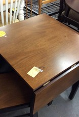 3 pc dinette drop leaf cherry and black
